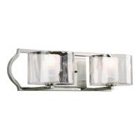 Bowery + Grove 51923-PNEO Roscommon 2 Light 18 inch Polished Nickel Bath Vanity Wall Light