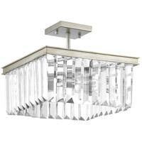 Bowery + Grove 53335-SRI Palermo 2 Light 14 inch Silver Ridge Semi-Flush Convertible Ceiling Light Design Series