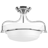 Bowery + Grove 52315-PCEI George 2 Light 17 inch Polished Chrome Semi-Flush Convertible Ceiling Light