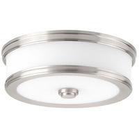 Bowery + Grove Bezel LED LED 11 inch Brushed Nickel Flush Mount Ceiling Light