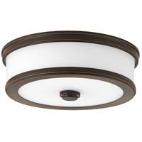 Bowery + Grove Bezel LED LED 11 inch Antique Bronze Flush Mount Ceiling Light