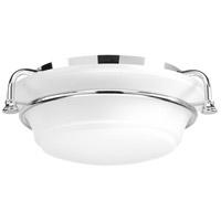 Bowery + Grove 52335-PCEI George 2 Light 17 inch Polished Chrome Flush Mount Ceiling Light