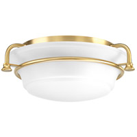Bowery + Grove 52336-BBEI George 2 Light 17 inch Brushed Bronze Flush Mount Ceiling Light