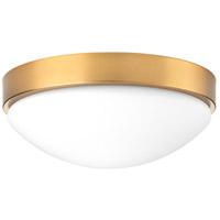 Bowery + Grove 53337-BBWL Atascosito LED 13 inch Brushed Bronze Flush Mount Ceiling Light Design Series