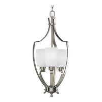 Bowery + Grove 51568-BNE Anna 3 Light 12 inch Brushed Nickel Foyer Pendant Ceiling Light