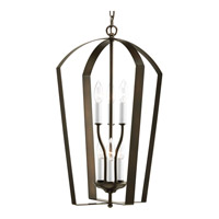Bowery + Grove 51559-AB Crotone 6 Light 15 inch Antique Bronze Hall & Foyer Ceiling Light
