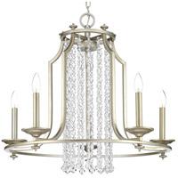 Bowery + Grove 53223-SRI Bradstreet 5 Light 28 inch Silver Ridge Chandelier Ceiling Light Design Series