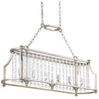 Bowery + Grove 53338-SRI Bradstreet 6 Light 38 inch Silver Ridge Island Light Ceiling Light Design Series