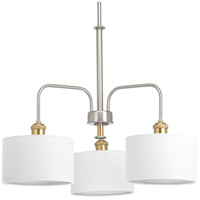 Bowery + Grove 53224-BNI Exeter 3 Light 25 inch Brushed Nickel Chandelier Ceiling Light Design Series