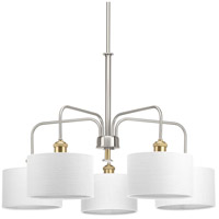 Bowery + Grove 53225-BNI Exeter 5 Light 30 inch Brushed Nickel Chandelier Ceiling Light Design Series