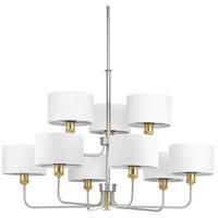 Bowery + Grove 53226-BNI Exeter 9 Light 38 inch Brushed Nickel Chandelier Ceiling Light Design Series