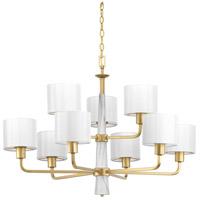 Bowery + Grove 53228-VGI Santa Barbara 9 Light 36 inch Vintage Gold Chandelier Ceiling Light Design Series