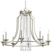 Bowery + Grove 53229-SRI Bradstreet 8 Light 36 inch Silver Ridge Chandelier Ceiling Light Design Series