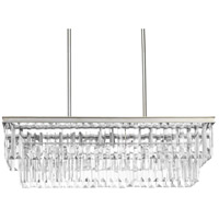 Bowery + Grove 53341-SRI Palermo 4 Light 34 inch Silver Ridge Island Light Ceiling Light Design Series
