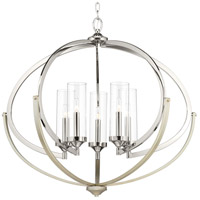 Bowery + Grove 53231-PNCI Orna 5 Light 34 inch Polished Nickel Chandelier Ceiling Light Design Series