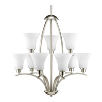 Bowery + Grove 51511-BNE Athy 9 Light 28 inch Brushed Nickel Chandelier Ceiling Light in Etched