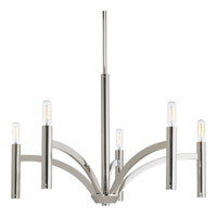Bowery + Grove 51532-PN Elizabethtown 5 Light 25 inch Polished Nickel Chandelier Ceiling Light