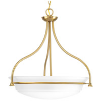 Bowery + Grove 52304-BBEI George 3 Light 23 inch Brushed Bronze Inverted Pendant Ceiling Light