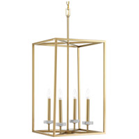 Bowery + Grove 53319-VGI Santa Barbara 4 Light 15 inch Vintage Gold Foyer Pendant Ceiling Light Design Series