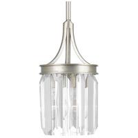 Bowery + Grove 53232-SRC Palermo 1 Light 6 inch Silver Ridge Pendant Ceiling Light Design Series