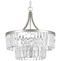 Bowery + Grove 53234-SRC Palermo 5 Light 22 inch Silver Ridge Pendant Ceiling Light Design Series