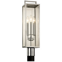 Bowery + Grove 53055-PSCI John 3 Light 24 inch Polished Stainless Post Lantern