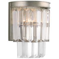 Bowery + Grove 53312-SRI Palermo 2 Light Silver Ridge Wall Sconce Wall Light Design Series