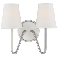 Bowery + Grove 58938-BNI Baird 2 Light 13 inch Brushed Nickel Sconce Wall Light photo thumbnail