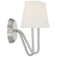 Bowery + Grove 58938-BNI Baird 2 Light 13 inch Brushed Nickel Sconce Wall Light alternative photo thumbnail