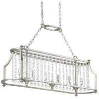 Bowery + Grove 53338-SRI Bradstreet 6 Light 38 inch Silver Ridge Linear Chandelier Ceiling Light, Design Series