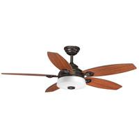 Bowery + Grove 53137-ABWO Garfield 54 inch Antique Bronze with American Walnut/Dark Teak Blades Ceiling Fan, Progress LED