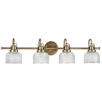 Bowery + Grove 55370-VBCD Artrude St 4 Light 36 inch Vintage Brass Bath Vanity Wall Light