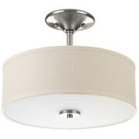 Bowery + Grove 51733-BNED Briscoe LED 13 inch Brushed Nickel Semi-Flush Mount Ceiling Light, Progress LED