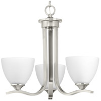 Bowery + Grove 52259-BNEI Antelo View Dr 3 Light 20 inch Brushed Nickel Chandelier Ceiling Light