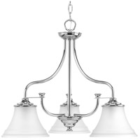 Bowery + Grove 52265-PCEI George 3 Light 24 inch Polished Chrome Chandelier Ceiling Light