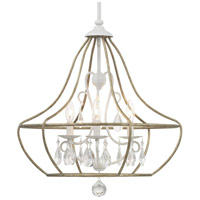 Bowery + Grove 54839-CWI Garden Grove 3 Light 22 inch Cottage White Chandelier Ceiling Light