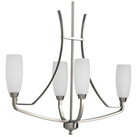 Bowery + Grove 51472-BNE Anna 4 Light 13 inch Brushed Nickel Chandelier Ceiling Light