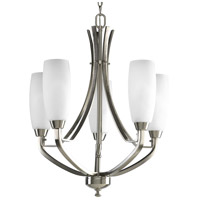 Bowery + Grove 51507-BNE Anna 5 Light 22 inch Brushed Nickel Chandelier Ceiling Light