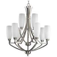 Bowery + Grove 51509-BNE Anna 9 Light 27 inch Brushed Nickel Chandelier Ceiling Light