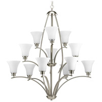 Bowery + Grove 51526-BNE Athy 12 Light 38 inch Brushed Nickel Chandelier Ceiling Light