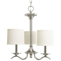 Bowery + Grove 51474-BNFS Briscoe 3 Light 17 inch Brushed Nickel Chandelier Ceiling Light