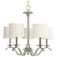 Bowery + Grove 51476-BNFS Briscoe 5 Light 23 inch Brushed Nickel Chandelier Ceiling Light