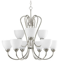 Bowery + Grove 51485-BNE Armstrong 9 Light 30 inch Brushed Nickel Chandelier Ceiling Light