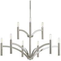 Bowery + Grove 53186-PN Elizabethtown 9 Light 32 inch Polished Nickel Chandelier Ceiling Light