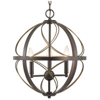 Bowery + Grove 54848-ABI Gerald Ave 3 Light 16 inch Antique Bronze Pendant Ceiling Light