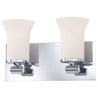 Bowery + Grove 50247-CWO Gatun St 2 Light 13 inch Chrome Vanity Light Wall Light
