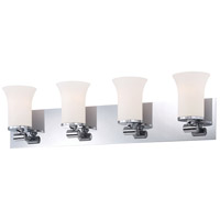 Bowery + Grove 50249-CWO Gatun St 4 Light 28 inch Chrome Vanity Light Wall Light