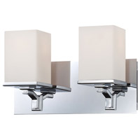 Bowery + Grove 50250-CWO Bend 2 Light 13 inch Chrome Vanity Light Wall Light
