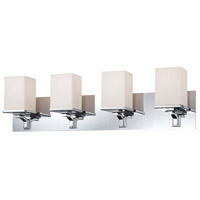 Bowery + Grove 50251-CWO Bend 4 Light 28 inch Chrome Vanity Light Wall Light