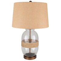 Bowery + Grove 53594-W Banquete 27 inch 100 watt Wheat Table Lamp Portable Light